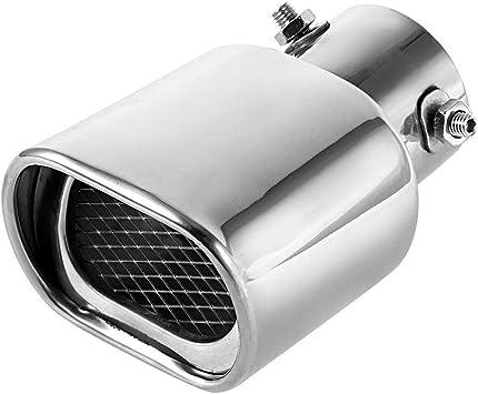 Universal Edelstahl Auto Auspuffrohr Schalld/ämpfer Auspuffblende Endrohr 63mm
