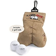 "Golf Gag Gift - Risque Ball Holder -with 2 Golf Balls -Balls engraved ""It tak..."
