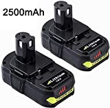 Dosctt 2 Pack 2.5Ah P102 Battery for Ryobi 18V One Plus Lithium Battery One+ Compact 18 Volt Power Cordless Tools P103 P105 P107 P108 P109 P122