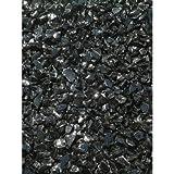 Exotic Pebbles & Aggregates EG10-L02 10 Lb Black Glass Pebbles