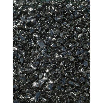 Exotic Pebbles & Aggregates EG10-L02 10 Lb Black Glass Pebbles by Exotic Pebbles and Aggregates