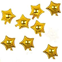 AnnoDeel 50 pcs 10inch Gold Star Balloons, Mylar Star Foil Balloons for Birthday Wedding Party Decorations.