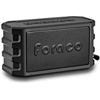 Bluetooth Speaker, Foraco Portable Wireless Stereo Bluetooth 4.2 Speakers with Bike Holder, 24 Hours Playtime, Powerbank Function, Enhanced Bass, IP65 Waterproof, Dustproof, TF Card Support - Black