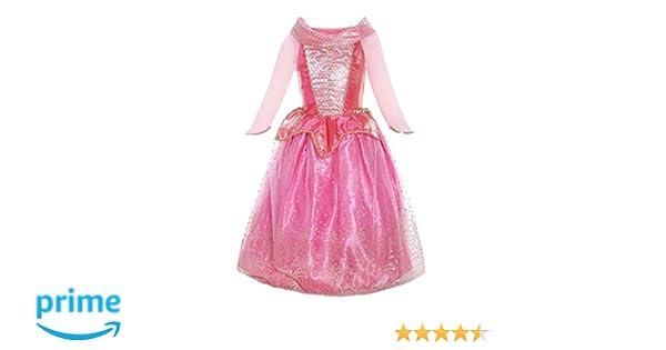 Katara 1709 - Disfraz de Princesa Aurora La Bella Durmiente Vestido de Carnaval Cumpleaños - Niñas 3-4 Años, Color Rosa
