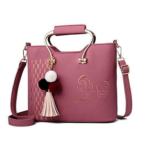 GWQGZ Nuevo Bolso De Las Señoras De La Moda Bolso Bolso De Hombro Dulce Y Solo Rosa Pink