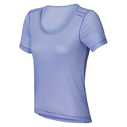 L Tamaño Peri White Dusted Cubic Odlo Mujer Camiseta Para wX88znx0