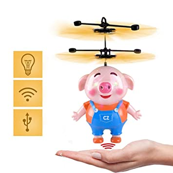 SJZX Flying Juguetes Bola Voladora Mini Drone Seaweed Pig Airplane ...