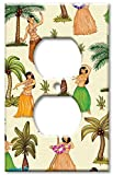 Art Plates - Outlet Cover OVERSIZE Switch Plate/OVER SIZE Wall Plate - Hula Girls