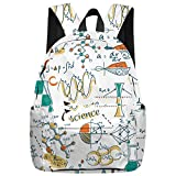 Stylish Elementary Student School Bag- Science Experiment and Chemical Equation Durable School Backpacks Outdoor Daypack Travel Packback for Kids Boys Girls