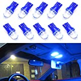 iJDMTOY (10) Ultra Blue Red Single-Emitter 1-LED 168 175 194 2825 W5W T10 LED Replacement Bulbs For Car Interior Lights, Map Lights, Dome Lights, Foot Area Lights, Trunk Area Lights, etc