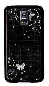 Samsung Galaxy S5 Black abstract N006 PC Custom Samsung Galaxy S5 Case Cover Black by supermalls
