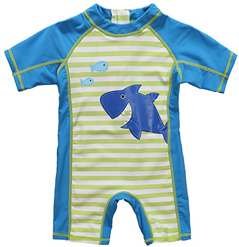 Baby Boys and Girls One Piece Rash Guard Swimsuit One Piece Swimsuit for Kids,Blue,18-24 Months