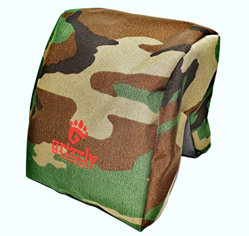 Grizzly Camera Bean Bag (Medium-Forest Camouflage), Photography & Video Bean Bag, Camera Support, Camera Sandbag, Spotting Scope Support, Birders Bean Bag, Tripod, African Safari, Photography Tours. (Camera Bean Bag)