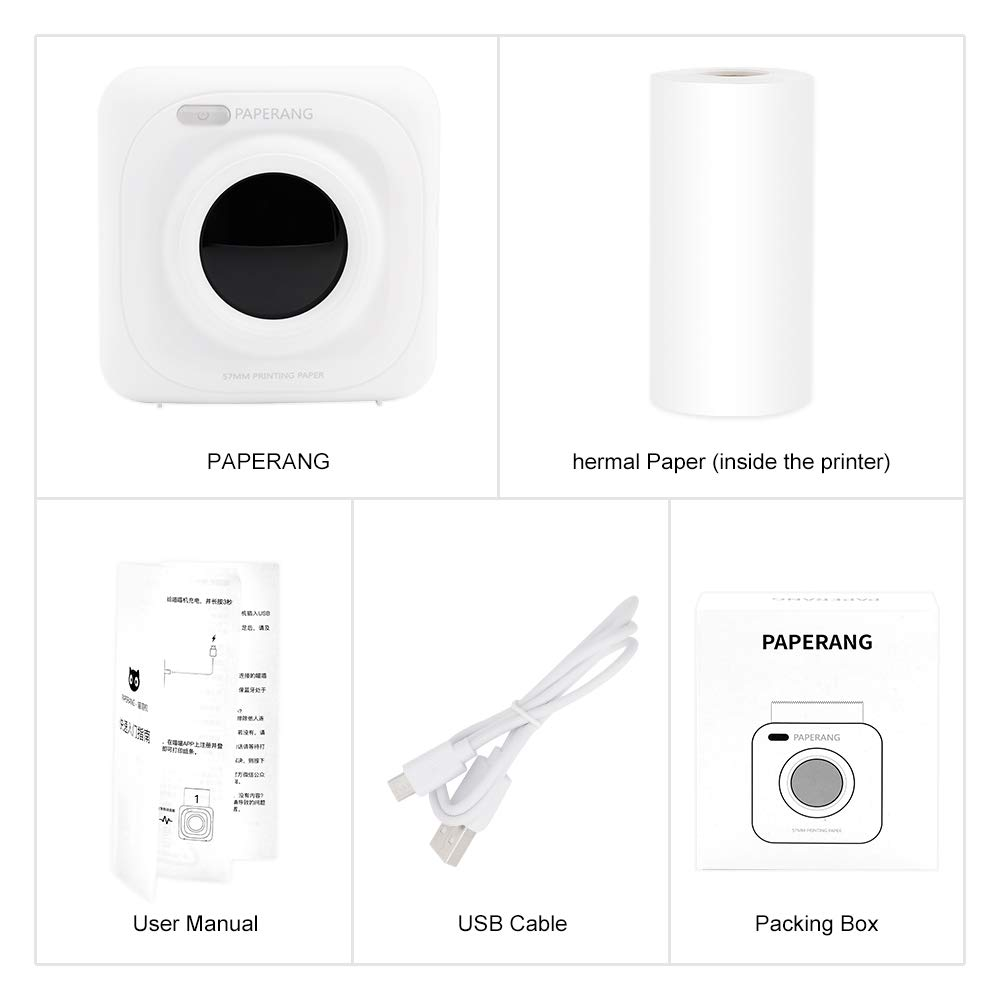 PAPERANG P1 White Mini Wireless Paper Photo Printer Portable Bluetooth Instant Mobile Printer for iPhone/iPad/Mac/Android Devices with Print Papers by Labelife (Image #7)