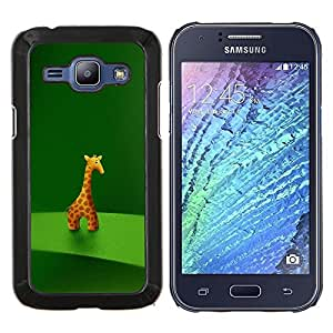 """Be-Star Único Patrón Plástico Duro Fundas Cover Cubre Hard Case Cover Para Samsung Galaxy J1 / J100 ( Animal carácter de la jirafa Estatuilla Arte Dibujo de la historieta"""" )"""