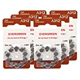 Hearing Aid Battery A312/B10_60 Evergreen