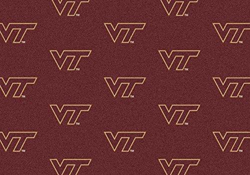 American Floor Mats Virginia Tech Hokies NCAA College Repeating Team Area Rug 10'9
