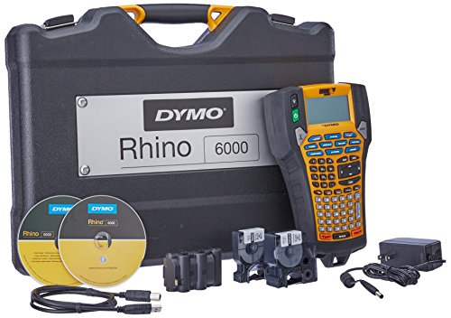 Dymo 1734520 Label Printer Kit - Rhino 6000 Printer, Hard Case, Labelprinter Software - Dymo File Office Software