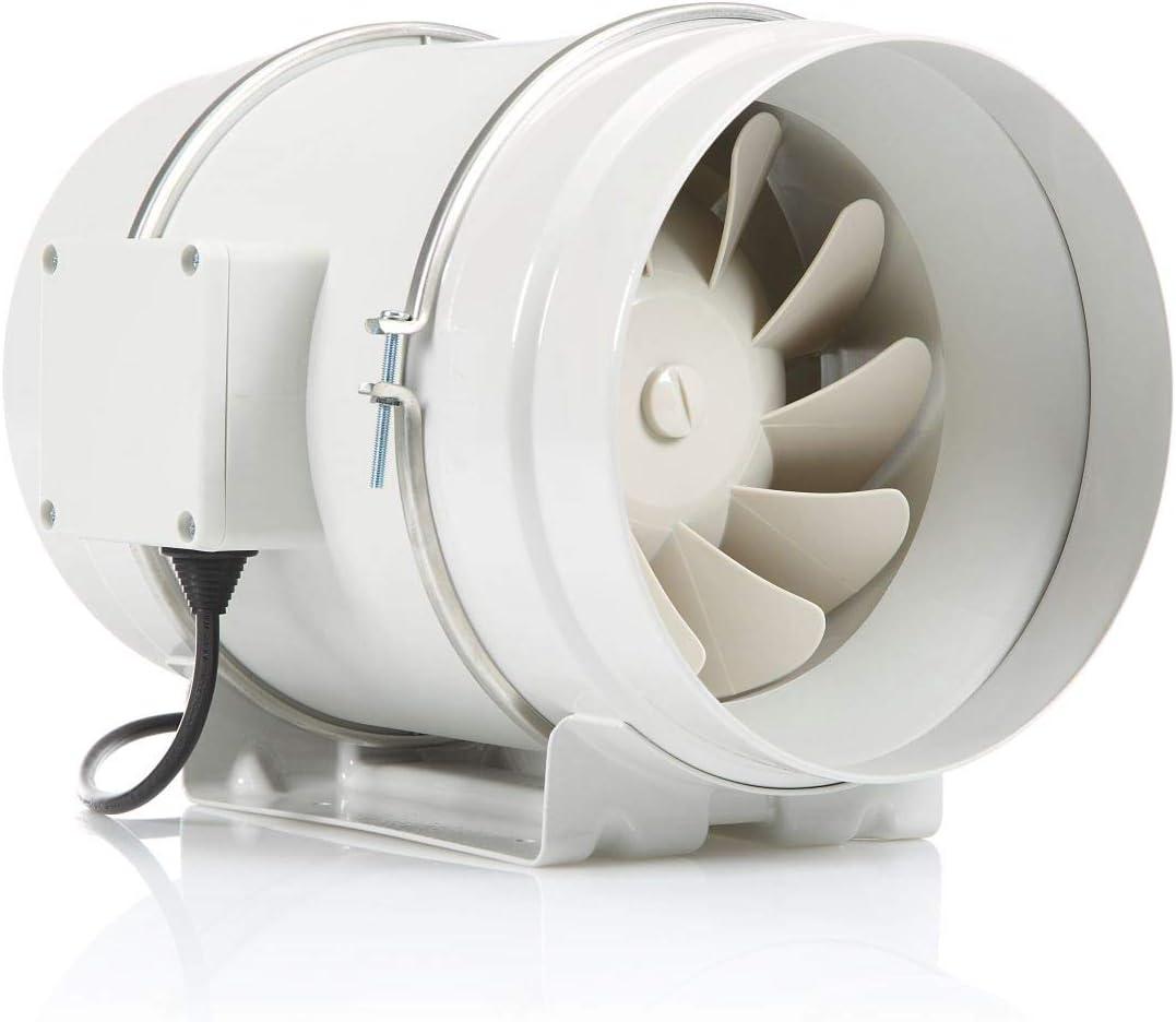 STERR - Extractor en línea con ventilador de conductos silenciosos 200 mm – DFA200