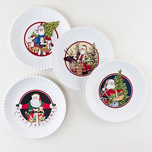 One Hundred 80 Degrees MelaminePaper Plates for Christmas Santa Reindeer Tree
