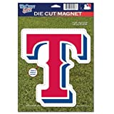 MLB Texas Rangers 82770010 Die Cut Logo Magnet, Small, Black