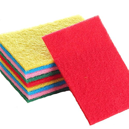 Sujing 10PCS Scrubbing Sponges Cleaning Heavy Duty Scrub sponge Eraser Sponge itchen Cleaning Tools Helper