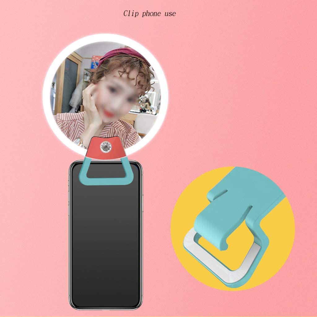Fill light ZHAOSHUNLI Led Small Ring Beauty Mobile Phone Self-Timer Face-Lift HD Skin Rejuvenation Professional Portable Universal Color : Purple