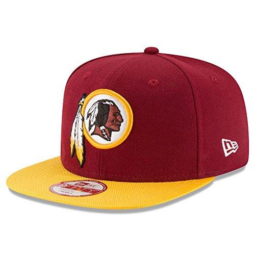 経験活性化スローニューエラとNFLサイドライン9フィフティフラットビルキャップ?ワシントンレッドスキンズ (New Era~ Washington Redskins)