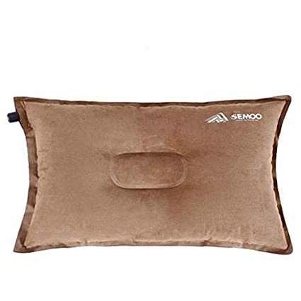 Semoo Camping Almohada/Linen de Aire Inflable autoinflable para Camping, Trekking y Viajes, comprimible