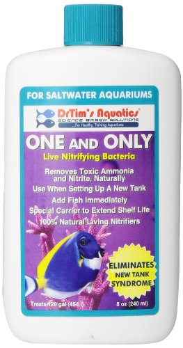 DrTim's Aquatics One & Only Live Nitrifying Bacteria for Cycling Aquaria, Saltwater, 8 oz