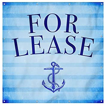 CGSignLab for Lease Nautical Stripes Heavy-Duty Outdoor Vinyl Banner 8x8