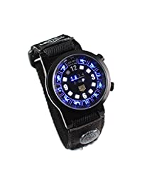 Tvg Men's Outdoor Sports Ditial Binary LED Watch Black