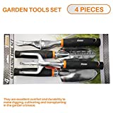 Sunshades Depot iGarden 4 Pieces Combo Gardening Lawn Plant Tools Set with 1 x Trowel, 1 x Cultivator 1 x Transplanter and 1 x Weeder .Tree & Shrub Care Kit Hand Tool Kit.