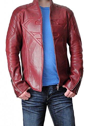 Tom Welling Superman Costume (BlingSoul Tom Welling Jacket - Superman Boys Jacket Men Clothing (S, Super Red))