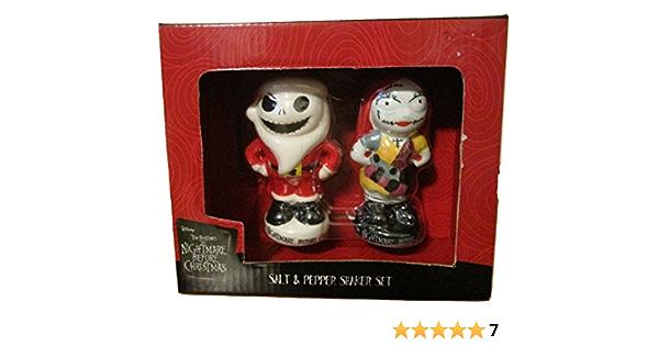 "2.5 Enesco Disney Nightmare Before Christmas/"" Jack Ceramic Salt and Pepper Shakers Multicolor"