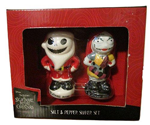 Disney Nightmare Before Christmas Salt and Pepper Shaker Set Christmas Set (Nightmare Before Christmas Salt And Pepper Shakers)