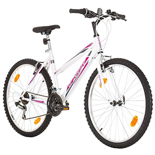 26' Inch, CoollooK, 6ST SENSE, Women's Mountain Bike, Hardtail Frame, 18...