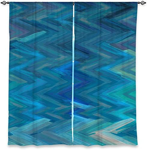 Dia Noche WCUChristyLeighSerenicEcho1 Unlined Window Curtains, 40W x 52H in