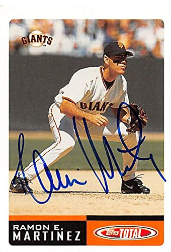 Ramon Martinez Autographed Baseball Card San Francisco