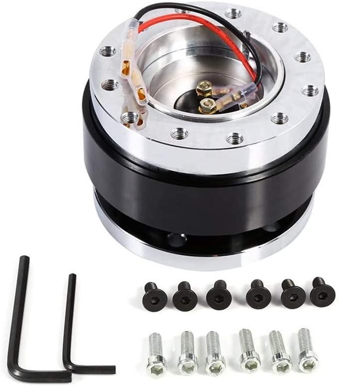 Steering Wheel Hub Adapater,Universal 6 Hole Bolt Ball Steering Wheel Quick Release Hub Adapter Snap Off Boss Kit