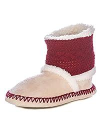 Noble Mount Womens Eskimo Indoor Short Boot Slippers