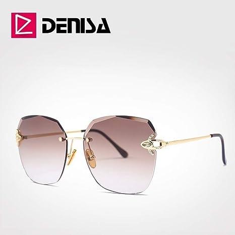 Yangjing-hl Marca Gafas de Sol Grandes para Mujer Gafas de ...