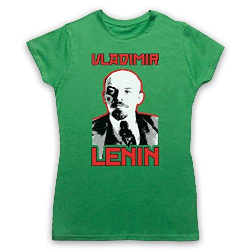 Vladamir Lenin Russia Revolutionary Camiseta para Mujer Verde