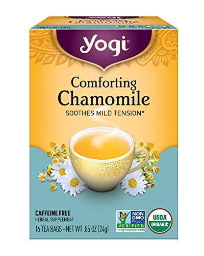 Yogi Tea, Chamomile, 16 Count (Pack of 6), Packaging May (Chamomile Caffeine Free Tea)