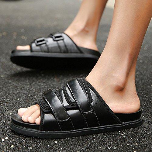Uomini sandali moda popolare sandali Spiaggia sandali tendenza Uomini sandali .nero.US=8,UK=7.5,EU=41 1/3,CN=42
