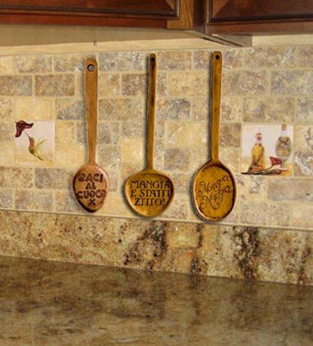 Amazon Com Italian Kitchen Decor Spoon Wall Decor Set Of