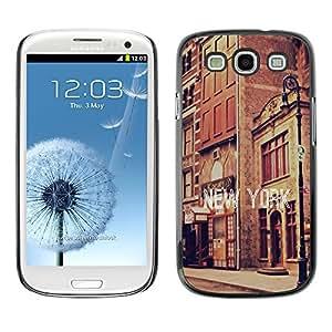 SHIMIN CAO- Dise?o Caso duro de la cubierta Shell protector FOR Samsung Galaxy S3 I9300 I9308 I737- New York City