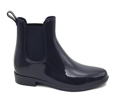 Amazon.com | Mobesano Women's Ladies Shiny Short Ankle High Rain ...