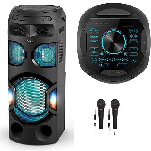 Sony MHC-V71 High Power Home Audio System with Bluetooth Karaoke Bundle
