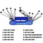 COZYROOMY-Kit-Riparazione-Pneumatici-Bici-Kit-Attrezzi-per-Bici-con-210-Psi-Mini-Pompa-dAria10-in-1-attrezzoPatch-per-PneumaticiLeve-per-Pneumatici-Portatile-Borsa-6-Mesi-di-Garanzia